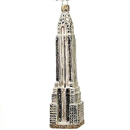 Pinnacle Peak Trading Company Chrysler Building New York City NYC Polish Glass Christmas Ornament Made Poland (Decorations Christmas Nyc In)