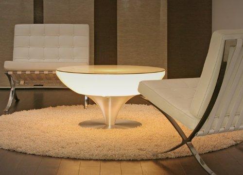 Couchtisch Lounge 45 Indoor Wohnzimmertisch Leuchttisch Beistelltisch by Moree, Glastischplatte:mit Tischplatte