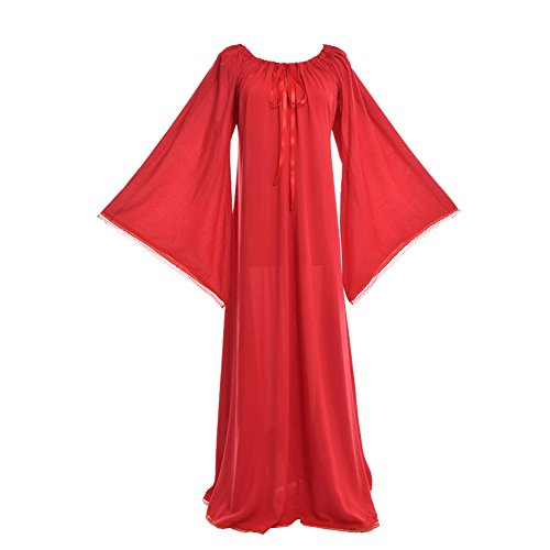 Renaissance Dress Blessume Medieval Women Red Gown IYPFw5q