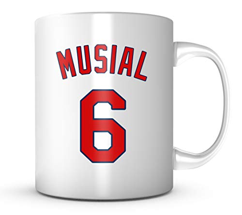 Stan Musial Mug - St Louis Baseball 11 oz Coffee Cup - Retired Legend Makes A Great Fan Gift