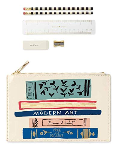 new concept 5b6ed 647db Kate Spade New York Women's Gold Stripe Pencil Pouch