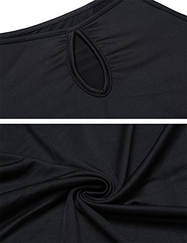cooshional Damen Baumwolle Bluse Ärmellos T-Shirt Sommer Bluse Tops