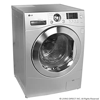 LG WM3455HS 24 Front Load Compact Washer/Dryer Combo , 2.7 cu. ft. Capacity - Silver