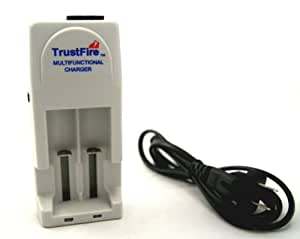 Trustfire Multifunctional Universal Lithium Ion Rechargeable Battery Charger for CR123A, 16340, 14500, 10400, or 18650