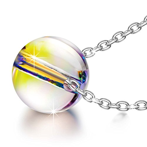 Kate Lynn Necklaces for Women Jewelry Gift Women Colorful Sterling Silver Crystals Ball Pendant Necklace Birthday Anniversary Valentine Gifts for Women Wife Birthday Gifts for Daughter for Her]()