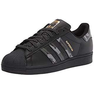 adidas Originals Men's Superstar Sneaker, Black/Black/Black, 18 M US