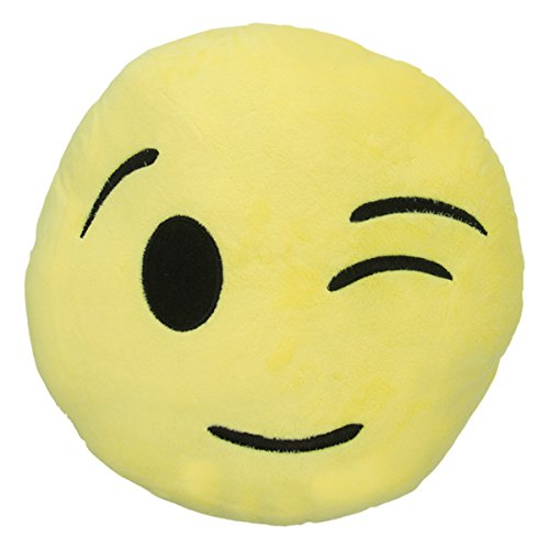 Emoji Pillow 12 diameter thick Wink product image