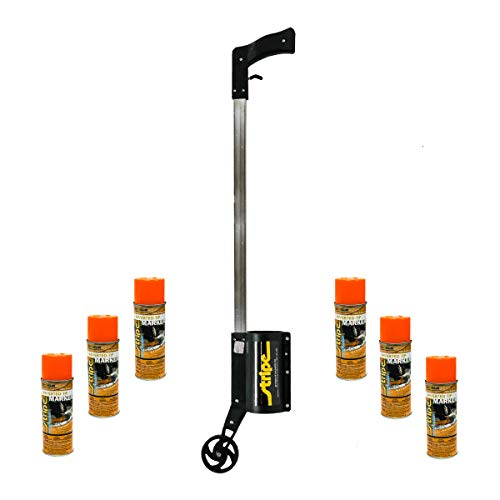 Seymour Z606 Stripe Marking Gun & 6PK 13oz Seymour Orange Spray Paint 16-657