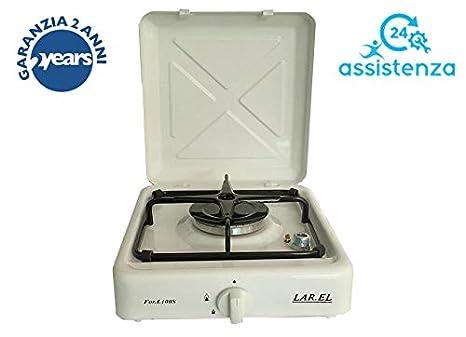larel 100sw mesa camping gas estufa de cocina, 1 anilla con válvula de seguridad, GLP o de gas metano: Amazon.es: Hogar