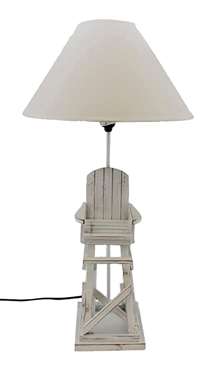 Wood Lifeguard Chair Table Lamp 27u0026quot;H Bedroom Nightstand Beach Decor By  Beachcomber