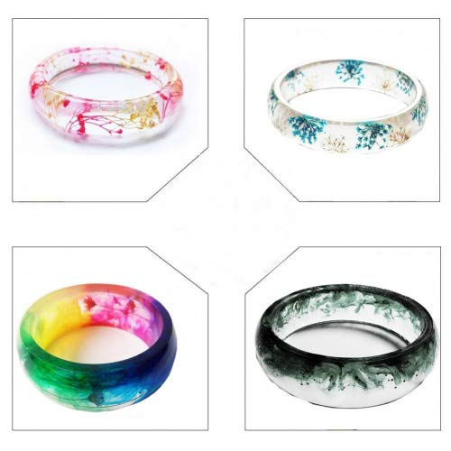 Arts, Crafts & Sewing Jetloter 4PCS Silicone Mould Mold Round for Resin Curve Bangle Bracelet Jewelry Making DIY