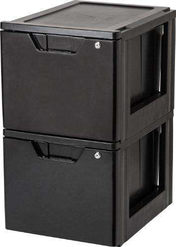 Review IRIS Stacking File Storage Drawer with Lock, 1 Pack, Lock By IRIS USA, Inc. by Inc. IRIS USA