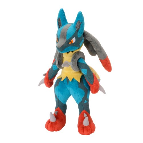 Pokemon Center Mega Lucario Plush, 11-Inch(Large)(Discontinued by manufacturer)