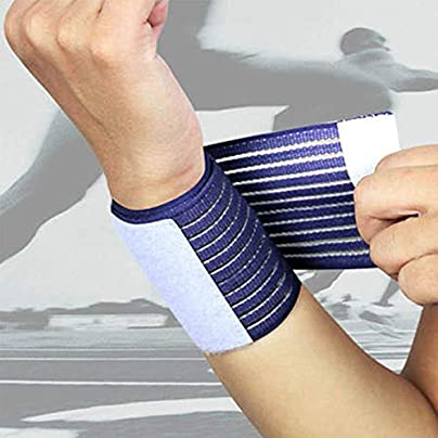 Outdoor Sport Elastic Bandage Hand Sport Wristband Gym Support Wrist Brace Wrap Fitness Tennis Polsini Sweatband Munhequeira White Estimated Price £2.01 -