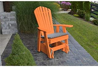 product image for Poly 2 Ft Single Adirondack Glider Chair - Orange