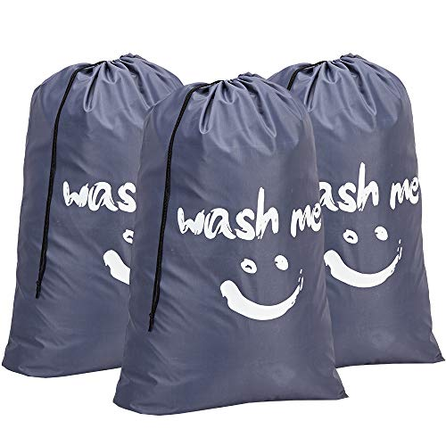 Amazon.com: HOMEST 3 bolsas de lavandería de viaje, 28 x 40 ...