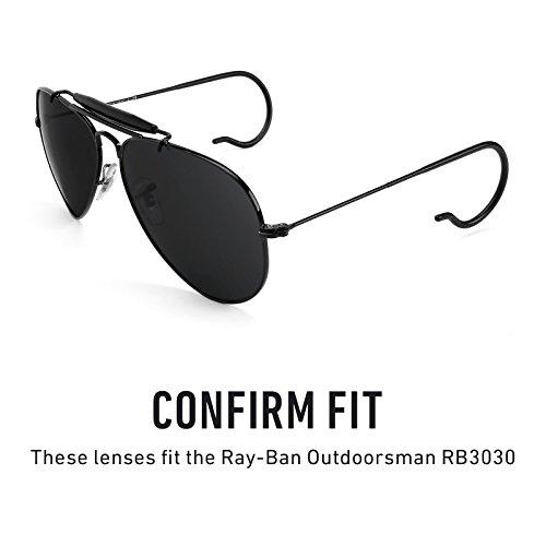 5f009af4d7e22 Verres de rechange pour Ray Ban Outdoorsman RB3030 — Plusieurs options Noir  Chrome MirrorShield® ...