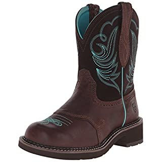 Ariat Women's Fatbaby Collection Western Cowboy Boot, Royal Chocolate/Fudge, 8 B(M) US