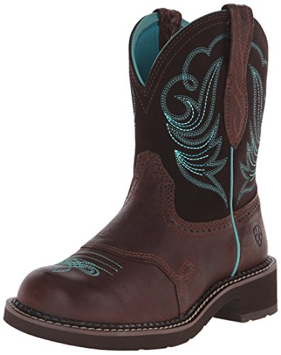Cowboy Riding Western Boots - Ariat Women's Fatbaby Heritage Dapper Western Cowboy Boot, Royal Chocolate/Fudge, 7.5 M US