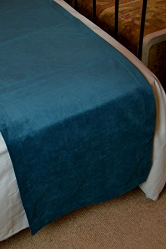 McAlister Matt Velvet | Decorative King Bed Runner | 20x100 Teal Blue-Green | Lush, Plush & Soft Classic Modern Accent Décor by McAlister Textiles