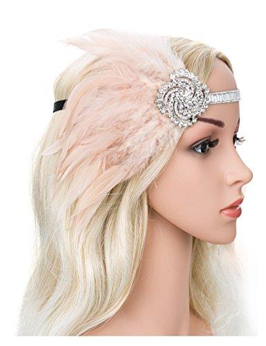 Zivyes 1920s Headband Flapper Headpiece 20s accessories Crystal Beaded Wedding Headpiece