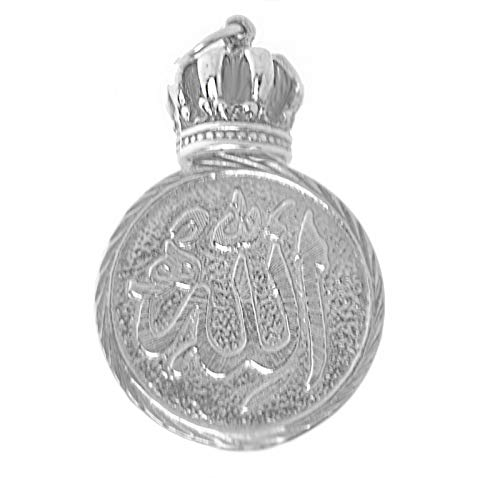 Sterling Silver King New - New Sterling Silver 925 Allah is Al-Malik King of All Kings Crown Charm Jewelry