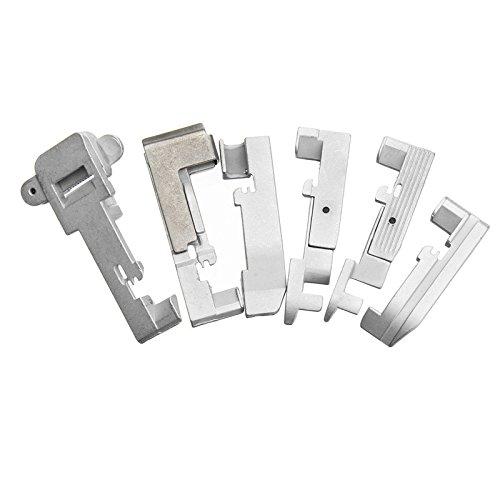 ZREAL 6pcs Serger overlock prensatelas Accesorios para Cantante 14/cg754/14SH654