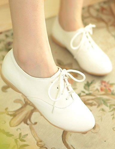 Rosa Nero e Flat Leatherette da Baby Hug Heel Sneakers Casual lavoro Uk3 Trendy Bianco Njx Scarpe Cn34 us5 Bianco donna Eu35 Ufficio PXzawq8qn