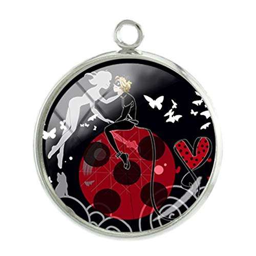 Pendants -1Pc Cartoon Chat Noir Picture Pendants Charms Special 20mm Glass cabochon Dome Fashion DIY Handmade Gift Jewelry - LB152