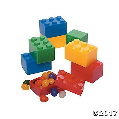 Building Block Brick Party Plastic Stacking Containers - 24