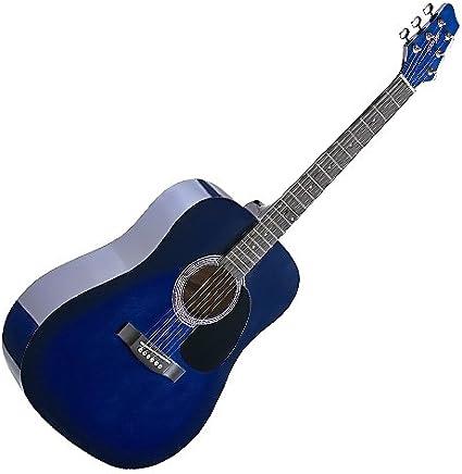 Stagg SW201BK - Guitarra acústica con cuerdas metálicas (tipo dreadnought), color negro: Amazon.es: Instrumentos musicales