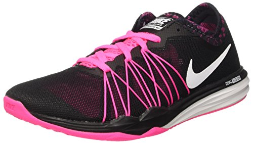 New Nike Women's Dual Fusion TR HIT Print Cross Trainer Black/Pink 6 by NIKE