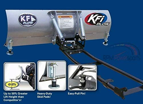 RPM KFI 54 ATV Steel Blade Snow Plow Kit for 2008-2019 Suzuki King Quad 750