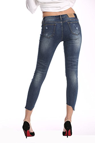 Moyen Skinny Lavage amp; Haute Stretch Elmer Jeans Femme Taille Alice Ankle zHYvqf