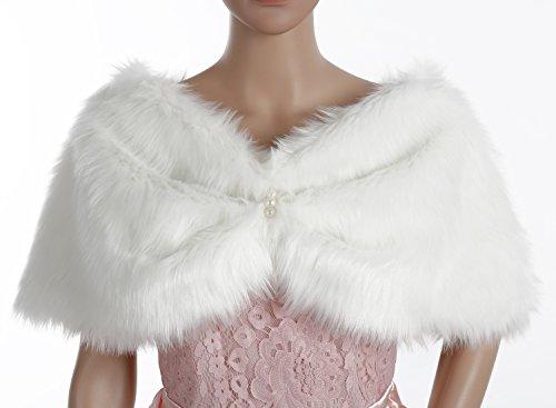 Dresstells reg;Mujer Chal Estola Bufanda De Piel Sintética Para Vestido De Fiesta Boda Invierno: Amazon.es: Ropa y accesorios