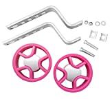 N3od3er Children's Bicycle Training Wheels for 12-20Inch Single Speed Kids Bike Stabiliser Colorful Universal Training Wheels (Pink,Blue,Purple) (Pink)