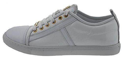 John Galliano 2954 Sneaker Lack Leder Weiss White