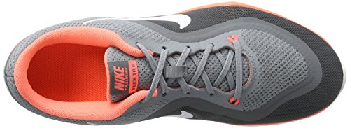 Nike Dames Flex Trainer 6 Stealth / Wit / Helder Mango / Cool Grijs
