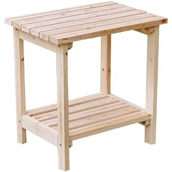 Shine Company Rectangular Side Table, Natural