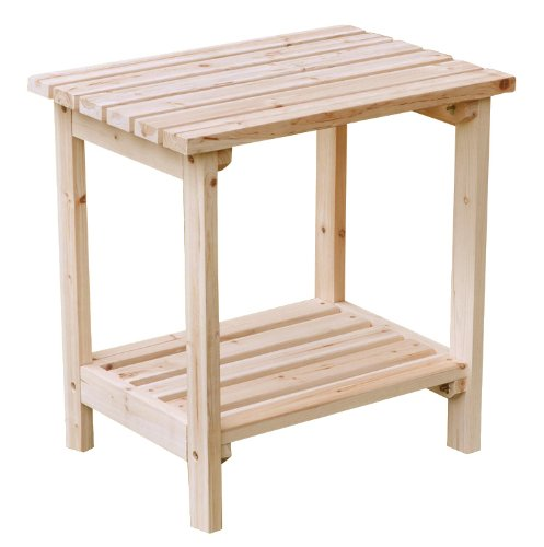 Adirondack Cedar Side Table - 1