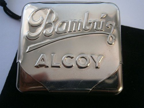 Rare New Vintage Bambu Alcoy Cigarette Rolling Papers Holder Tin Case from Spain