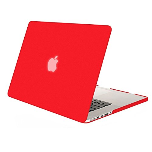 MOSISO Plastic Hard Shell Case Cover Only Compatible MacBook Pro (W/O USB-C) Retina 13 Inch (A1502/A1425) (W/O CD-ROM) Release 2015/2014/2013/end 2012, Red