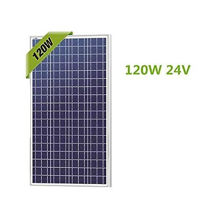 Amazon.com: Solarland Panel solar de 120 W de polietileno ...