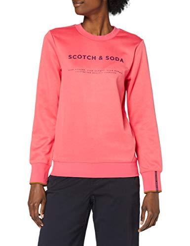 Scotch & Soda Sweatshirt mit Rundhalsausschnitt und Logo Dames Sweater