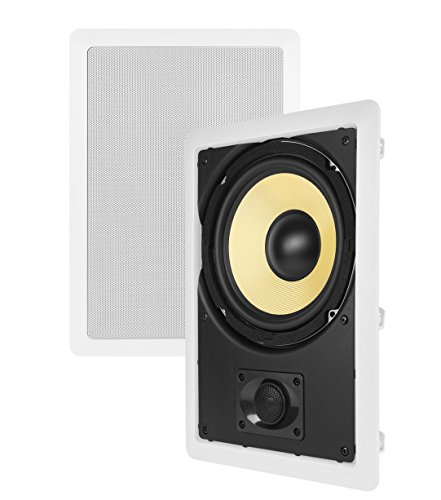 Theater Solutions TS80W 8-Inch Kevlar In Wall Speakers (White) by Theater Solutions