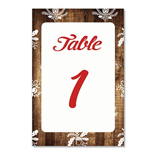 Rustic Christmas Table Numbers 25 Pack Reserved Seating