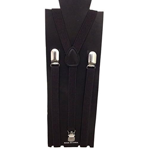 JTC Unisex Children Elastic Suspenders Coffee for sale