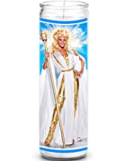 RuPaul Celebrity Prayer Candle - Funny Drag Race Saint Candle - 8 inch Glass Prayer Votive - 100% Handmade in USA - Novelty Celebrity Gift