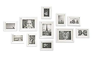 Amazon De Ray Chow 11er Weiss Holz Bilderrahmen Wand Set Collage