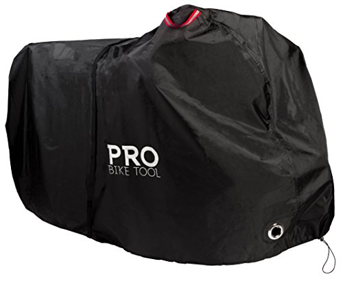 Pro Bike Cover for Outdoor Bicycle Storage - Large 1, XL 1-2, XXL 2-3 Bikes - Heavy Duty Ripstop Material, Waterproof & Anti-UV - Protection from All Weather Conditions for Mountain & Road Bikes. ()